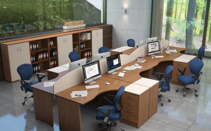 Офисная мебель для персонала Имаго Комплект №8