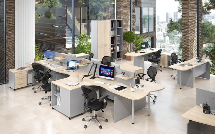 Офисная мебель для персонала Offix-NEW Комплект №3