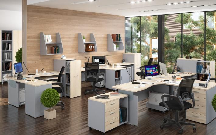 Офисная мебель для персонала Offix-NEW Комплект №4